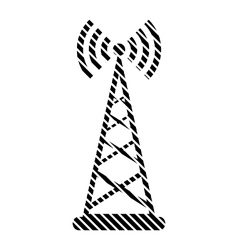 Transmitter sign on white vector image
