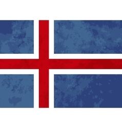 True proportions Iceland flag with texture vector image