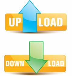 upload download buttons vector image