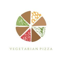 Vegetarian pizza design template vector