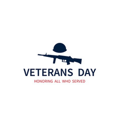 Veterans day honoring all who served american vector