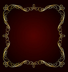 vintage gold frame decorative frame vector image