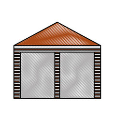 warehouse building exterior commercial empty vector image