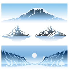 Winter Mountains Graphic Design vector image