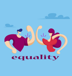 woman and man show their muscles vector image