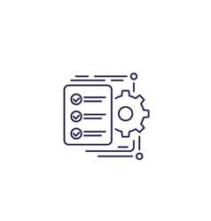 Workflow icon line vector