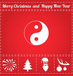 ying yang icon vector image