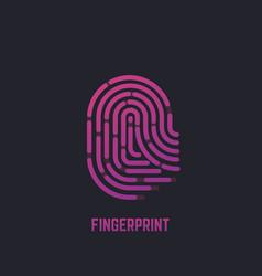 fingerprint gradient logo vector image vector image