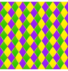 Green purple yellow grid Mardi gras seamless vector image vector image