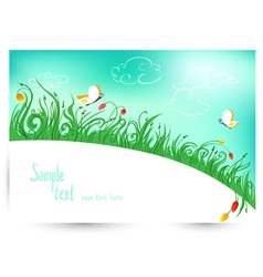 Spring and summer floral vector image