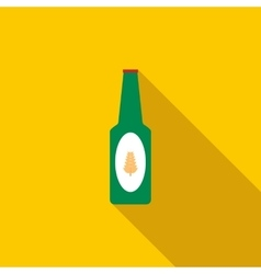 Bottle of beer icon flat style vector image