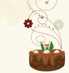 cake with background vector image vector image