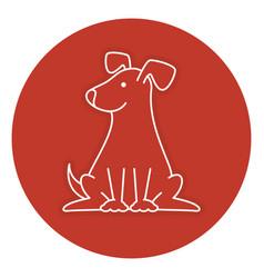 cute dog mascot icon vector image