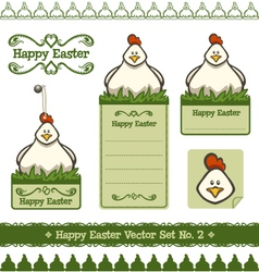 happy easter set no 2 vector image