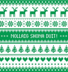 Nollaig Shona Duit - Merry Christmas in Irish vector image vector image