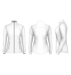 Softshell jacket for lady vector image vector image