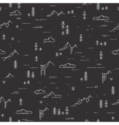 linear seamless pattern with wild landscape vector image
