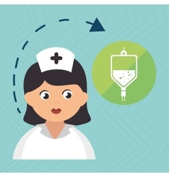 nurse cartoon care medical vector image