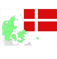 6133 denmark map and flag vector image vector image