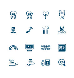 dental icons - micro series vector image vector image