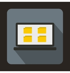 Desktop icon in flat style vector image