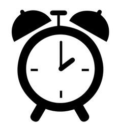 Retro clock alarm clock icon eps 10 vector