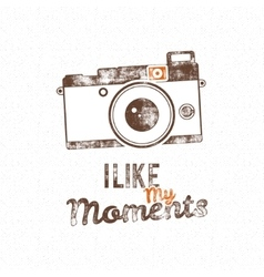 Retro poster with old camera icon and text vector image vector image
