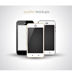 smartphone realistic collection set of elegant vector image vector image