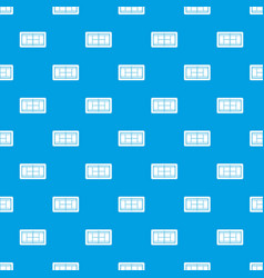 tennis court pattern seamless blue vector image