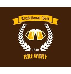 Traditional Beer emblem or label vector image vector image