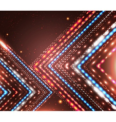 Abstract design with shiny arrows and place for vector image
