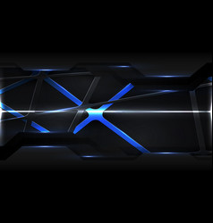 abstract digital technology futuristic grid cyber vector image