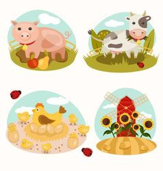 Animals on the farm vector