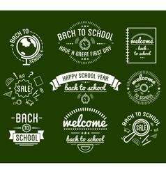 Back to School typography Designs Label Set vector