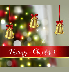 Background with christmas bells vector