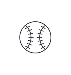 baseball ball thin line icon linear symbol vector image