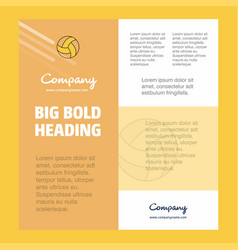 basketball business company poster template with vector image