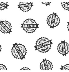Best price sale rubber stamp seamless pattern vector