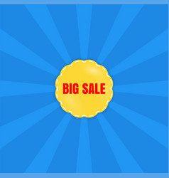 Big sale poster banner special offer vector