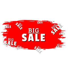 big salespecial offer sale red tag vector image
