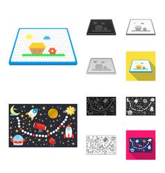 Board game cartoonblackflatmonochromeoutline vector