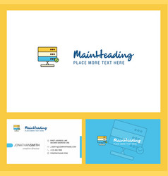 board logo design with tagline front and back vector image