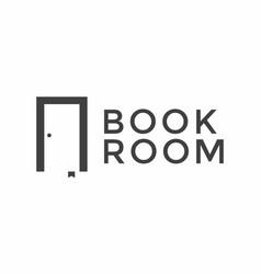 Book room logo design template vector