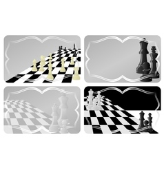 Business card with chess vector image