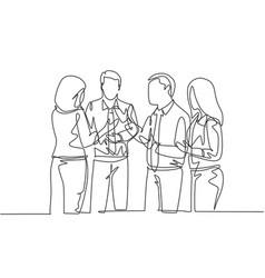 Business internship concept one single line vector