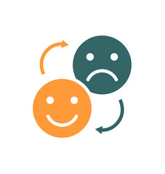 Changing positive and negative emoji colored icon vector