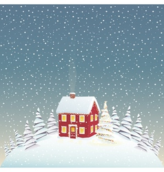 Christmas cozy house vector