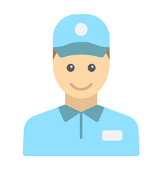 Delivery man flat icon logistic and delivery vector