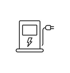 electric station icon vector image