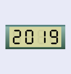 Electronic scoreboard with the number 2019 vector